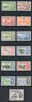 Turks & Caicos Islands SG221/3 KGVI 1950 set of 13 M/Mint