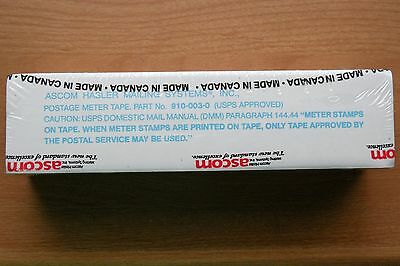 Postage Meter Mail Tapes-Ascom Hasler #910-003-0 NEW Package of 250 Double Label