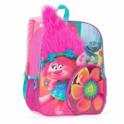 "Dreamworks Trolls Poppy 16"" Full-Size Backpack, Faux Hair"
