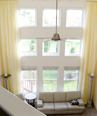 2 extra long drapes for high ceiling custom made curtains 16 17 18 feet ft NEW
