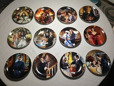 Gone With the Wind Bradford Exchange Golden Anniversary Complete Set 12 plates