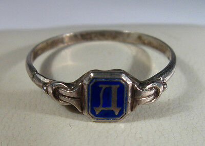 Vintage Silver Ring With Cyrillic Letter ''D'' Lucky Charm 19/20th Century  #923