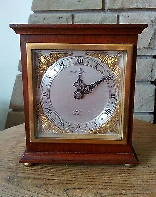 eliott mantel clock made by the retailer bell brothers in excellent condition.