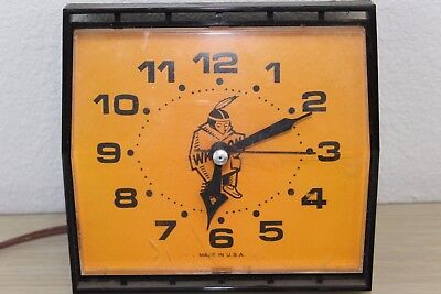 Vintage Advertising Westclox Melody S13-AD Indian Electric Clock USA ** WORKS