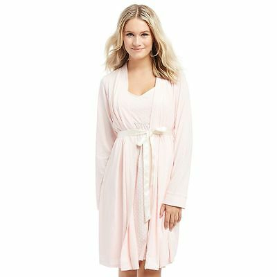 NWT Oh Baby! MOTHERHOOD MATERNITY  Pink NURSING Gown & Robe Set XL $54