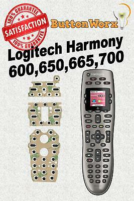 Logitech Harmony 600 650 665 700 Remote Control Button Repair -Full Kit w/deoxit
