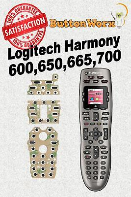 Logitech Harmony 600 650 665 700 Remote Control Button repair kit(no deoxit)