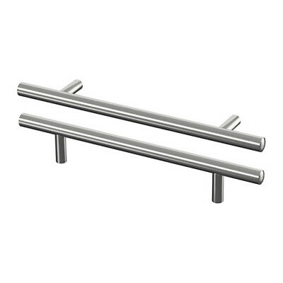 Ikea LANSA Handle for Wardrobe Cabinet Drawer, in 5 sizes Stainless Steel 2-Pack