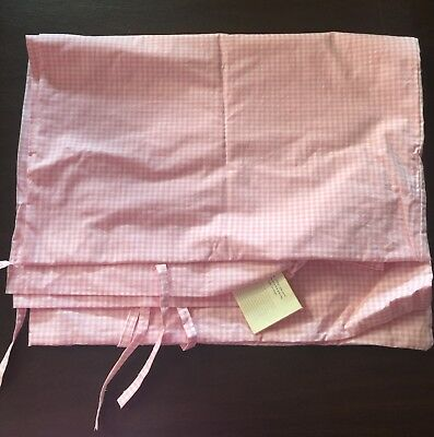 NWT Pottery Barn Kids Pink Gingham Crib Duvet