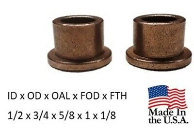 "5//8/""x 3//4/""x5//8/"" Made In USAd Bronze Flanged Bushing,Oilite SF-2024-10 Qty 2pc"