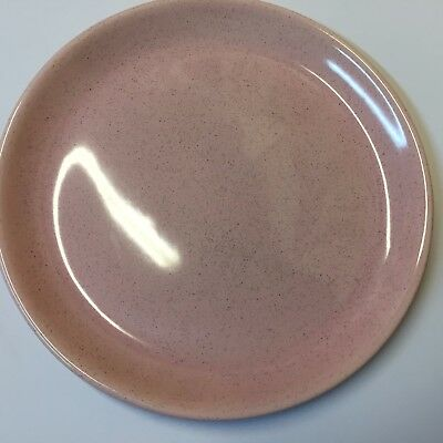 Vintage Brusche Bauer Al Fresco Pink & Grey Speckled 10 inch Dinner Plate