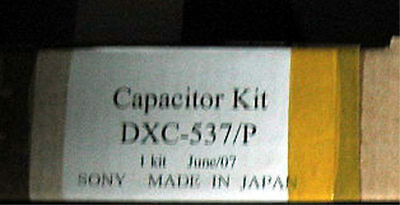 Sony Capacitor Kit DXC-537/P Made in Japan genuine VCR VTR parts