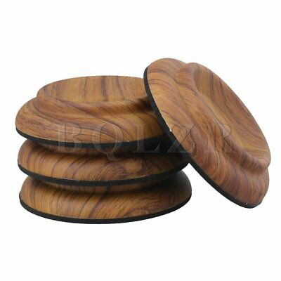 """4pcs 4.01"""" Acrylic Piano Caster Cups Pads for Upright Piano Rosewood Color"""