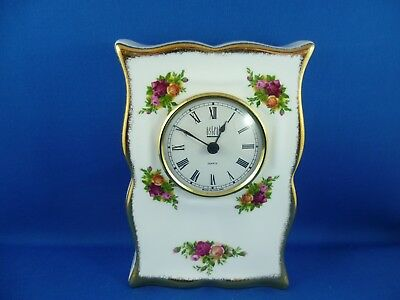 Royal Albert Old Country Roses Mantle Clock Made In England  Astral