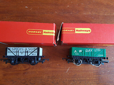 Hornby Open Wagons X 2 R163 R104 Excellent Condition Boxed Oo Gauge(Ch3)