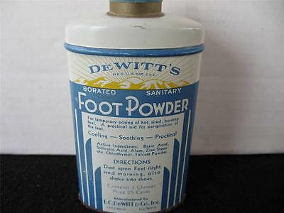 Vintage DeWitts Foot Powder Tin