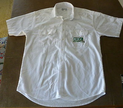 TEAM KOOL GREEN 100% COTTON BUTTON DOWN SHIRT size MEDIUM