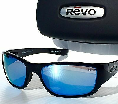 ffa4940bf6 NEW  REVO HEADING Black w POLARIZED Blue WATER Sunglass 4058 01 BL