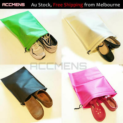 Large Shoe Bags Drawstring Pouch Travel Sports Dance Storage Dust 30x40cm Bulk