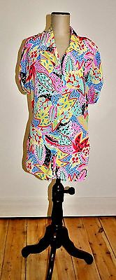 Vintage 80's SWEETEN Design Abstract Print Blouse