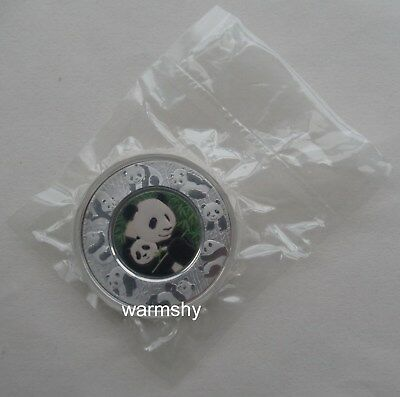 China 2016 Shanghai Mint High Relief Colorized Panda Silver Medal 150g COA