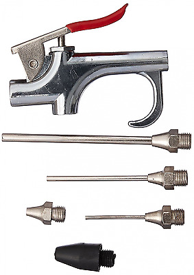 Neiko 31112 Air Blow Gun Set with 5 Interchangeable Nozzles and Over-Sized Trigg