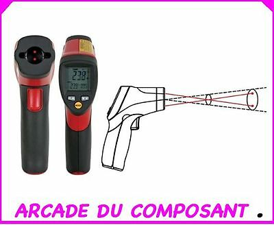 THERMOMETRE INFRAROUGE A 2 VISEE LASER -50°C à +550°C (ref 55042-1) Poids 500g