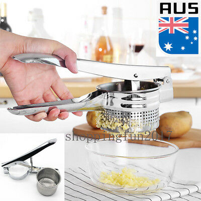 New Steel Potato Ricer Press Kitchen Maker Fruit &Vegetable Stainless Juicer OZ