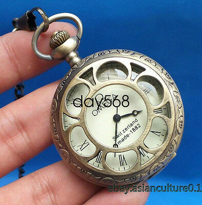 China Tibet collection of bronze sculpture machinery old pocket watch LJ