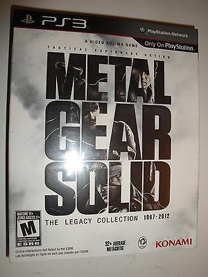 NEW Metal Gear Solid The Legacy Collection +Art book 1987-2012 PlayStation 3 PS3
