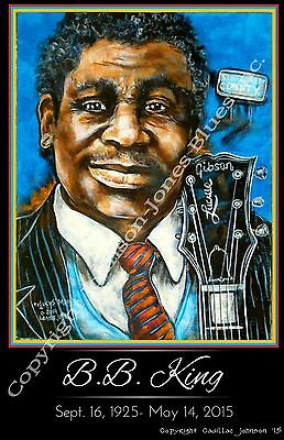 B.B. King Tribute Poster by Cadillac Johnson