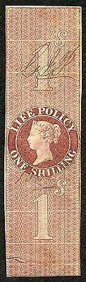 1854 Life Policy red-brown 1/0