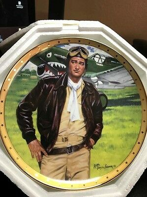John Wayne: Symbol of America's Fighter Pilot. Franklin Mint Collector Plate