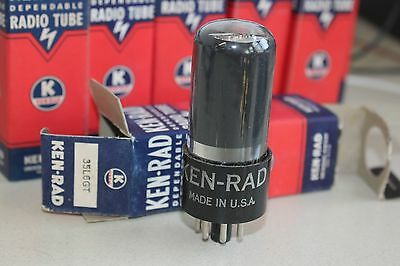 (Qty 1) Ken-Rad 35L6Gt Vintage Tube - New Old Stock In Box Nos - Many Available