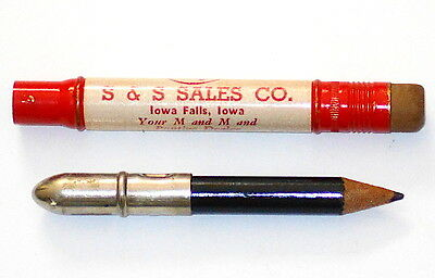 Vintage Pontiac S & S Sales Co. Dealership Iowa Falls, Iowa Bullet Pencil