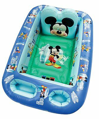 Disney Baby Inflatable Bathtub Kid Toddler Bath Tub Mickey Mouse Portable Pool