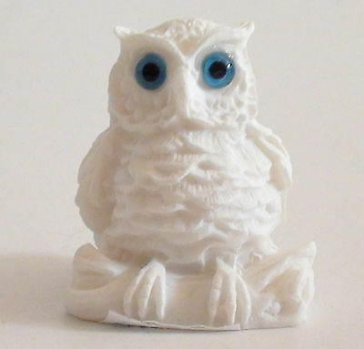 Owl Statue Bird Greek Roman Ancient Wisdom Symbol Alabaster Handmade Wildlife 2""