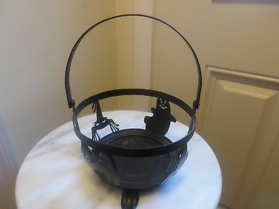 Longaberger  Halloween Small Iron Foundry Caudron Black Iron