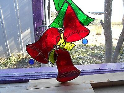 Stained Glass Window Panel  Christmas Art