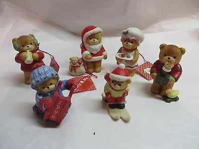 Lot Of 6 ~ Lucy And Me Bears ~ Christmas