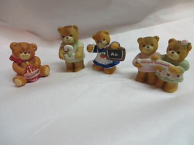 Lot Of 4 ~ Lucy And Me Bears ~ Birthday~ Teacher ~ Annniversary