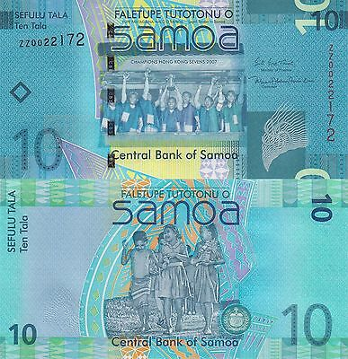 Samoa 10 Tala (2008/2017) - New Sign/Replacement Note p39-New UNC