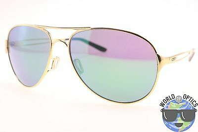Oakley Women's Sunglasses OO4054-15 CAVEAT Polished Gold w/Jade Iridium Lens