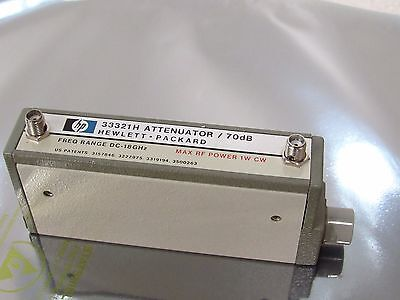 HP Agilent 33321H Programmable Step Attenuator 0~70 dB in 10 dB steps, 18 GHz SM