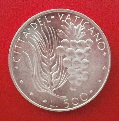 1975 VATICAN POPE PAUL 6 th 500 lire SILVER UNC COIN ITALY PAULUS VI