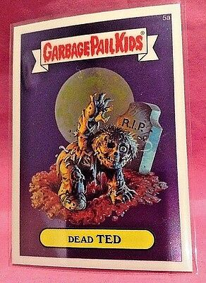Garbage Pail Kids 2013 Chrome Series Dead Ted 2013 5a Sticker Base Card