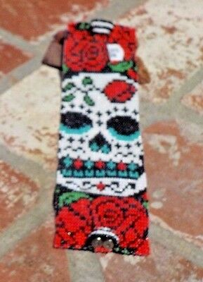 Day Of The Dead Catrina Czech Bead Bracelet Guatemala Fair Trade Free Shipping