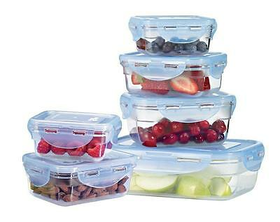 Lock and by Starfrit Krystal 094409 12-Piece Plastic Container Set
