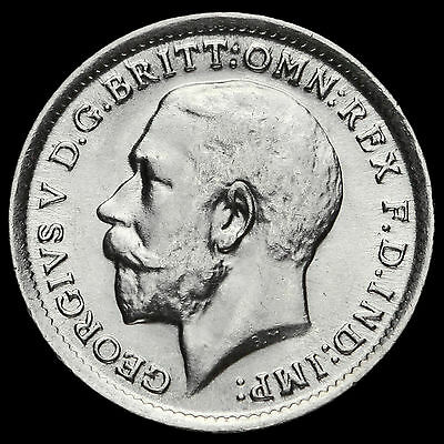 1912 George V Silver Threepence, A/UNC