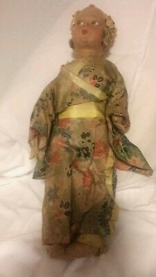 vintage Chinese Silk Doll Antique